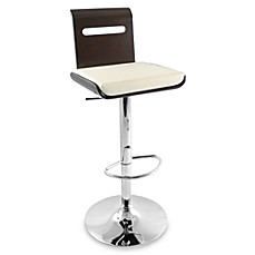 LumiSource Viera Hydraulic Wood Barstool