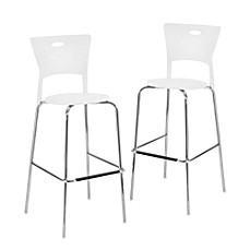 LumiSource Mimi Stackable Barstool (Set of 2)