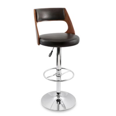 LumiSource Presta Barstool in Cherry Wood
