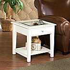 Panorama End Table in White