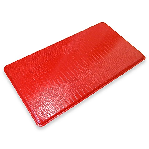 GelPro® Original Gel-Filled Anti-Fatigue 1-Foot 8-Inch x 4-foot Crocodile Kitchen Mat in Red