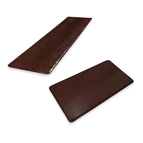 GelPro® Original Gel-Filled Anti-Fatigue Crocodile Kitchen Mat in Truffle