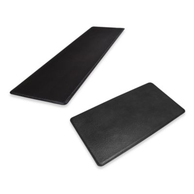 GelPro Original Gel-Filled Anti-Fatigue Ostrich Kitchen Mat in Black