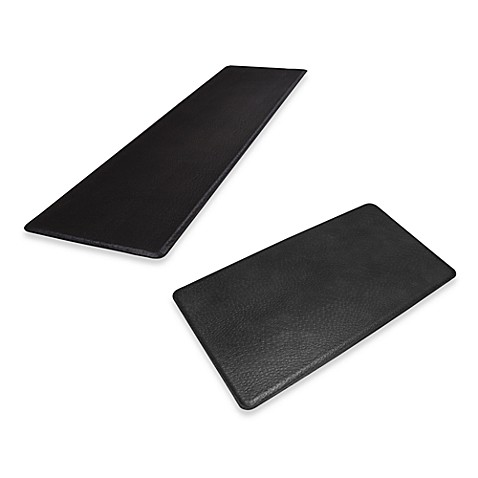 GelPro® Original Gel-Filled Anti-Fatigue Ostrich Kitchen Mat in Black
