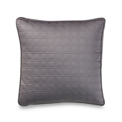 Ampersand® Color Block 16-Inch Quilted Square Toss Pillow in Black