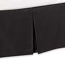 Ampersand® Color Block Bed Skirt in Black