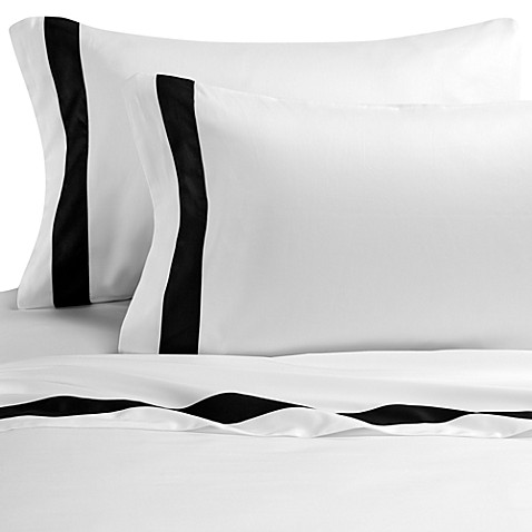 Ampersand® Color Block Standard/Queen Pillowcases (Set of 2) - Black