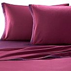 KAS® Two Tone Sheet Set in Plum/Berry