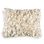 Extreme Ruffles 15-Inch x 20-Inch Decorative Toss Pillow in Ivory