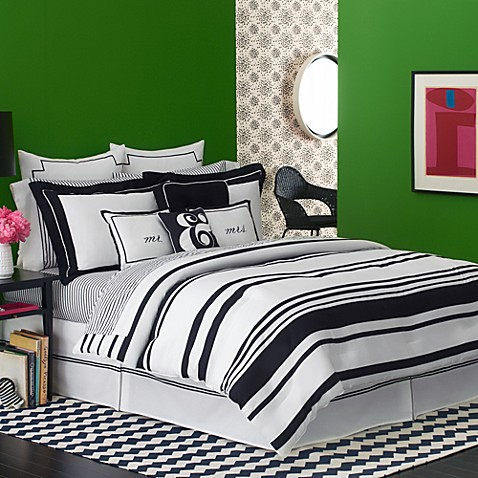 Kate Spade New York Fairmont Stripe Comforter Bed Bath