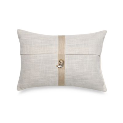 Coastal Life Lux Seashell Oblong Throw Pillow in Ivory