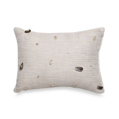 Coastal Life Lux Seashell Oblong Toss Pillow