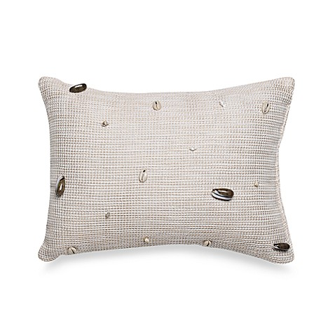 Coastal Life Lux Seashell Oblong Throw Pillow