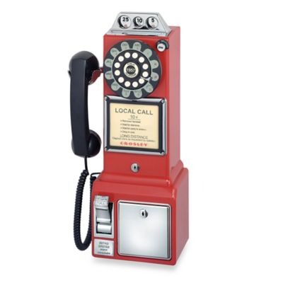Crosley 1950's Classic Pay Phone in Red