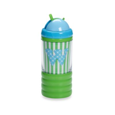 "Mud Pie™ Baby Blue Initial ""W"" Sip N' Munch"