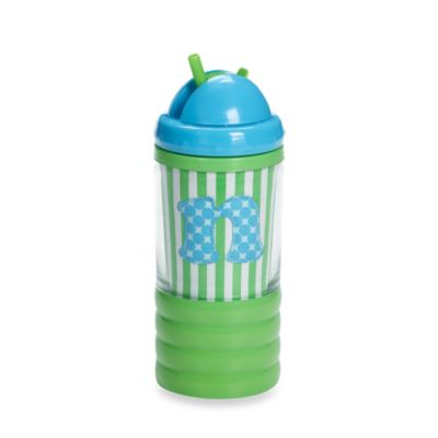 "Mud Pie™ Initial ""N"" Sip N' Munch in Baby Blue"