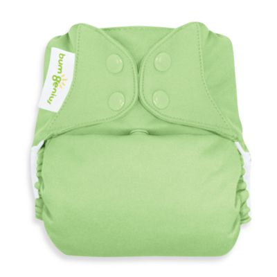 bumGenius™ Cloth Diaper with Snap Closure in Grasshopper