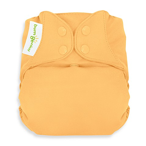 bumGenius™ Cloth Diaper with Snap Closures in Clementine