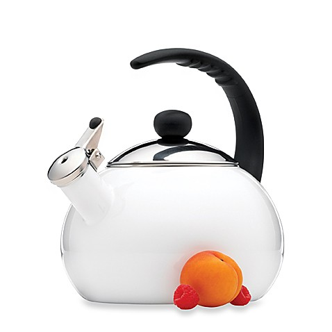 Farberware® Luna 2 1/2-Quart Tea Kettle in White