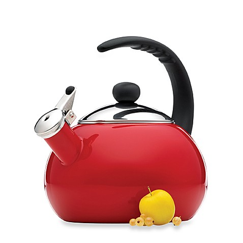 Farberware® Luna 2 1/2-Quart Tea Kettle in Red