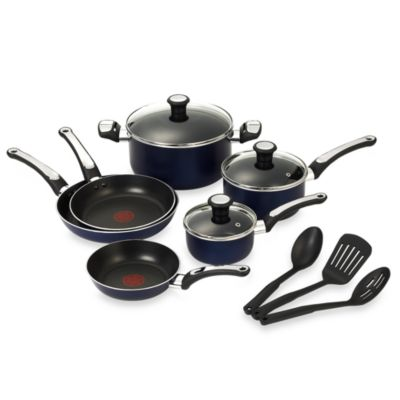 T-Fal® Total Non-stick 12-Piece Cookware Set in Blue