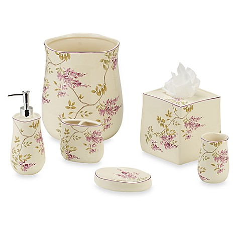 J queen wisteria toothbrush holder bed bath beyond for Queen bathroom decor