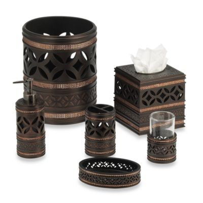 India Ink Anaka Boutique Tissue Holder in Bronze