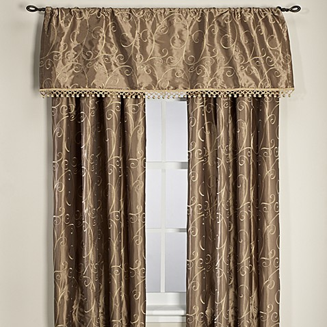 Montebello Lined Rod Pocket/Back Tab Window Curtain Panel