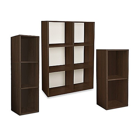 Way Basics Tool-Free Bookcase and Storage in Espresso