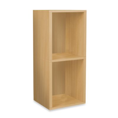Way Basics Tool-Free Natural 2 Shelf Bookcase and Storage
