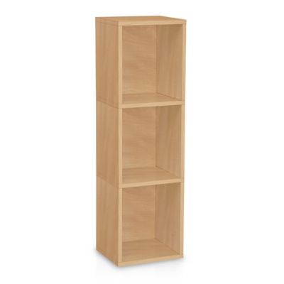 Way Basics Tool-Free Natural 3 Shelf Bookcase and Storage