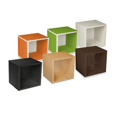 Way Basics Tool-Free Storage Cube in Espresso