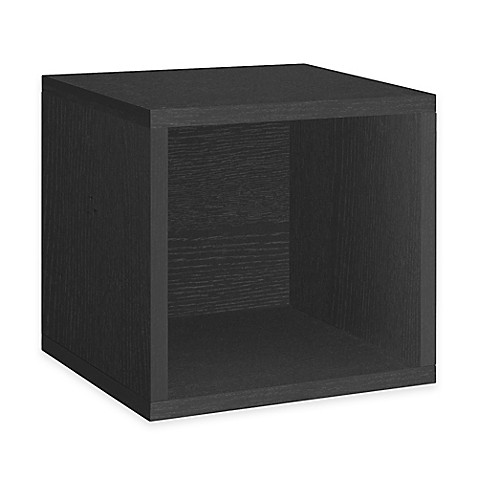 Buy Way Basics Tool-Free Storage Cube in Black from Bed ...