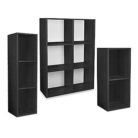 Way Basics Tool-Free Black Bookcase and Storage