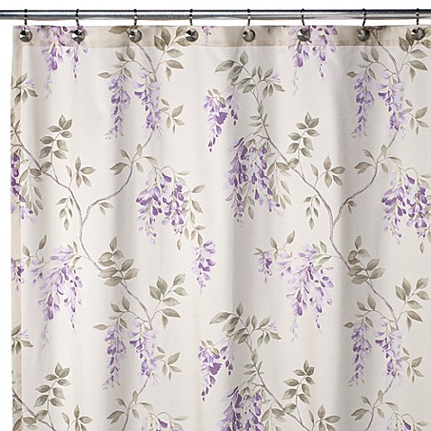 J queen wisteria 72 x 72 shower curtain bed bath beyond for Queen bathroom decor