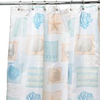Seaside White 70-Inch W x 72-Inch L Shower Curtain