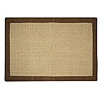 Jute Basketweave 2-Foot x 3-Foot Accent Rug with Chenille Border in Chocolate