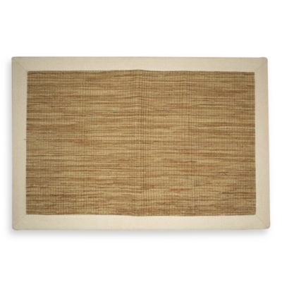 Woven Cotton 2-Foot x 3-Foot Accent Rug with Solid Border in Honey