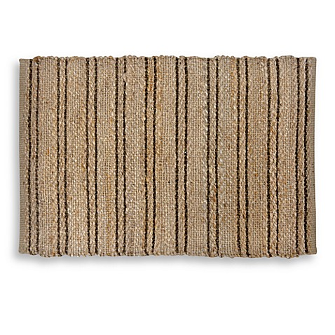 Woven Jute and Chenille 2-Foot x 3-Foot Accent Rug in Natural/Espresso