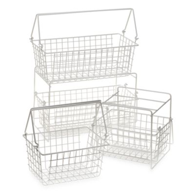Small Two-Basket Slide Out Organizer