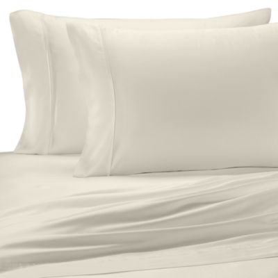 Pure Beech® Sateen Standard Pillowcase in Cream (Set of 2)