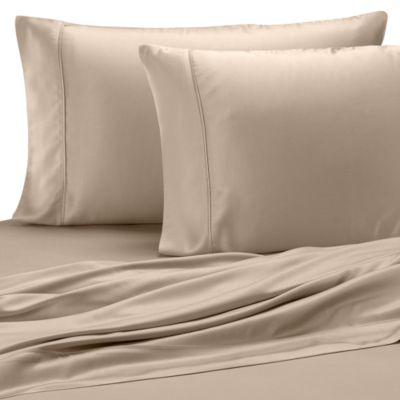 Pure Beech® Sateen Standard Pillowcase in Champagne (Set of 2)