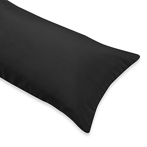 Body Pillow Cover in Black