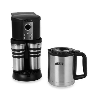 Hamilton Beach Stay or Go Custom Pair Thermal Stainless Steel Coffee Maker - Bed Bath & Beyond