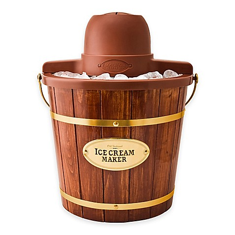 Nostalgia™ Electrics Old Fashioned Wood Ice Cream Maker