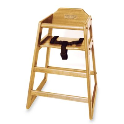 Lipper International Wood High Chair in Natural
