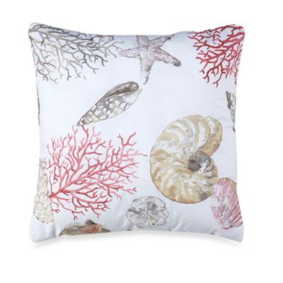 Seashore 18-Inch Square Throw Pillow