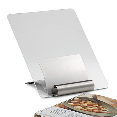 Stainless Steel Cookbook Stand with Cover
