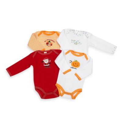 Holiday Bodysuits (4-Pack) - 0 - 6 Months