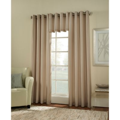 Argentina Room Darkening 120-Inch Grommet Window Curtain Panel in Eggshell